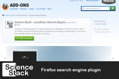 Science Stack Firefox search plugin